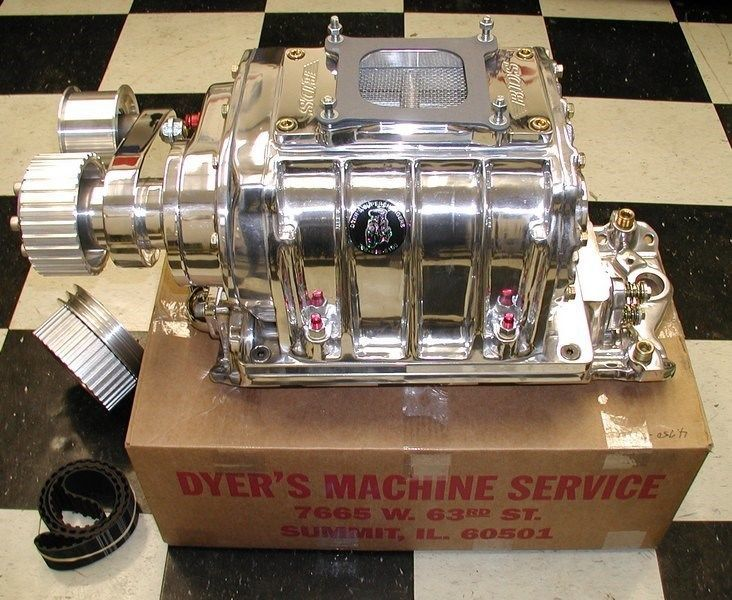 471 rebuilt blower with drive and manifold polished sb