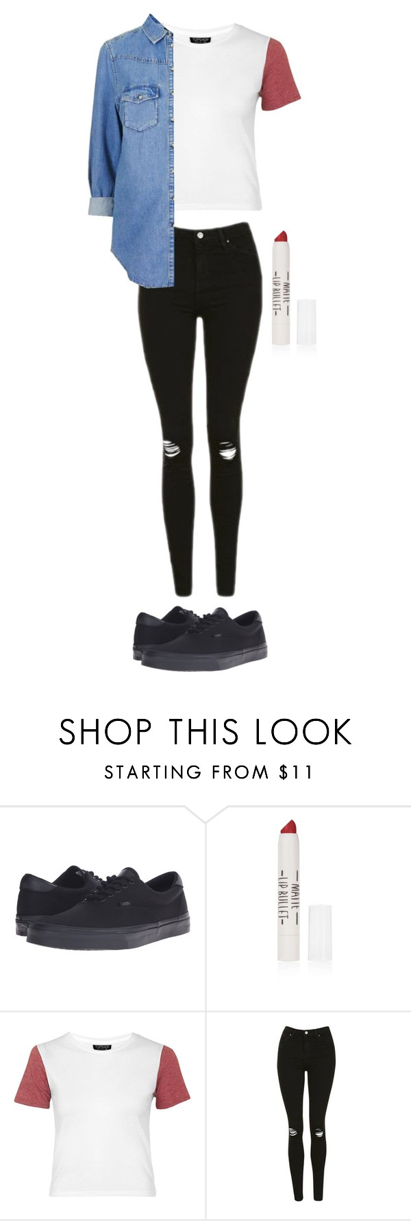 """""""Untitled #221"""" by sarahtwohig ❤ liked on Polyvore featuring Vans and Topshop"""