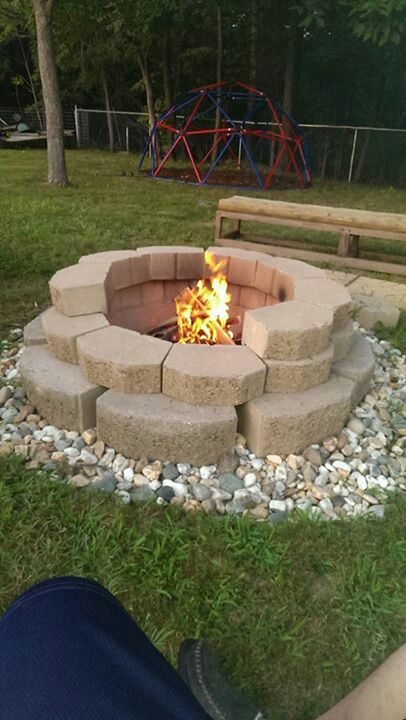 Fire pit patios fire pits pinterest gardens for Above ground fire pit