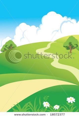 Vector Landscape Landscape Background Background Clipart Landscape