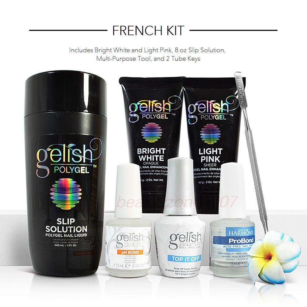 Nail Gelish Harmony Polygel French Kit 1720002 Ebay Gel Nail Kit Fun Nail Colors Summer Gel Nails