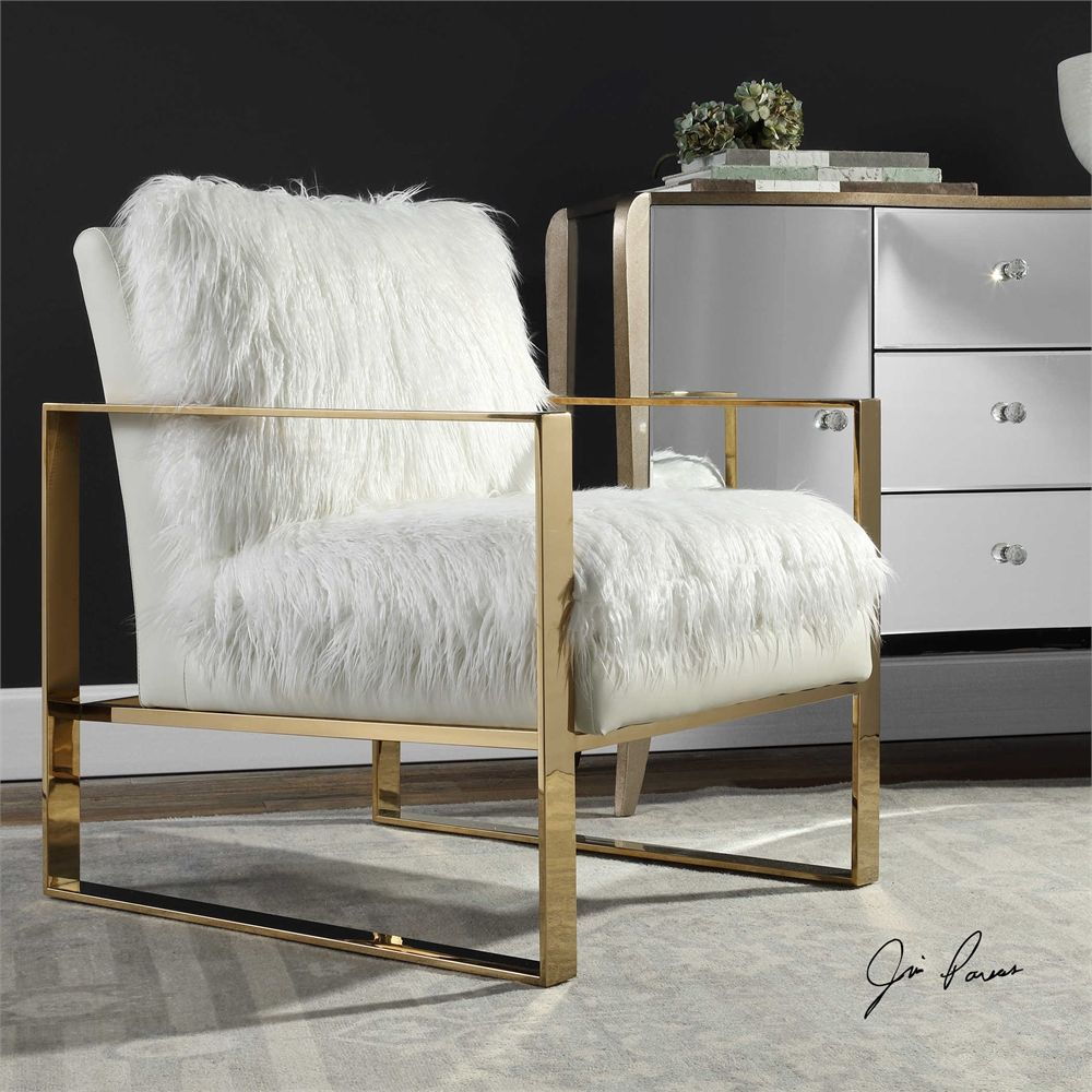 Room · uttermost delphine white accent chair · accent chairsliving