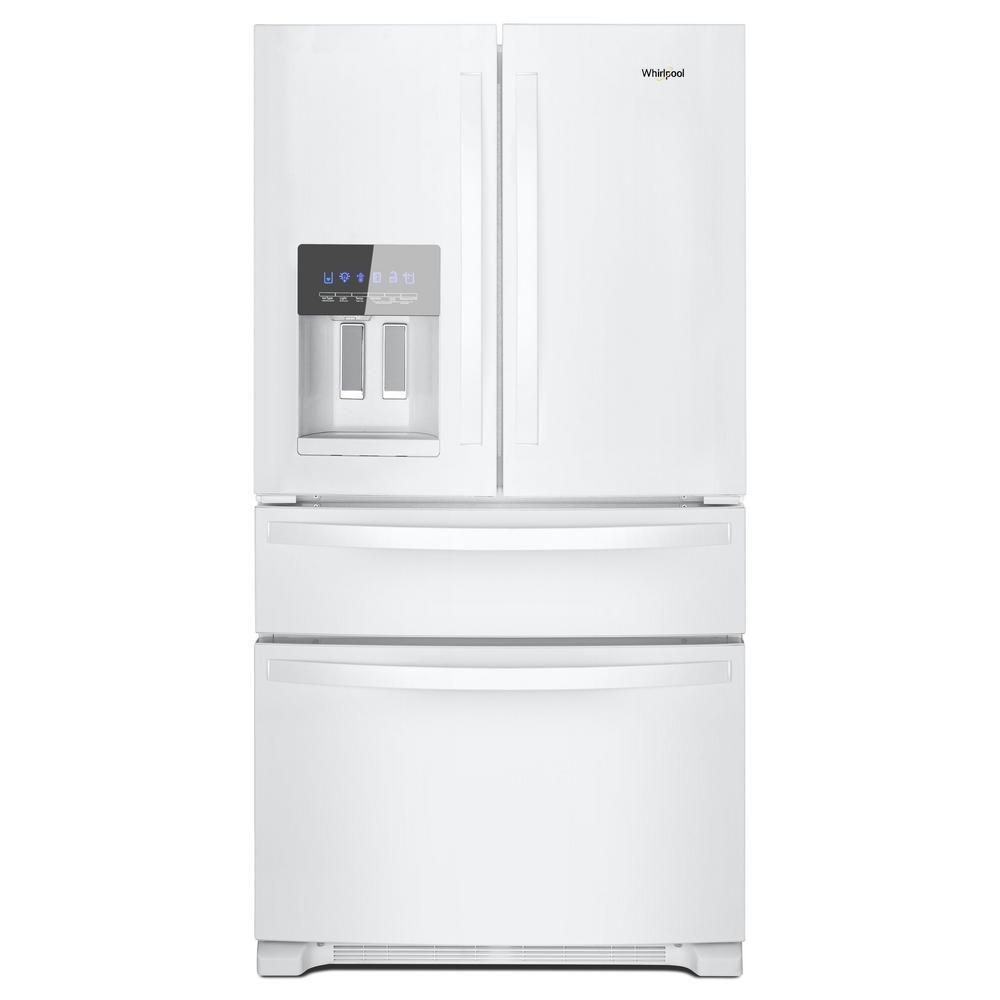 f39be754c9eca85104068fa7588e74f4 Kitchenaid 22.1 Cubic Ft White Bottom Freezer French Door Refrigerator