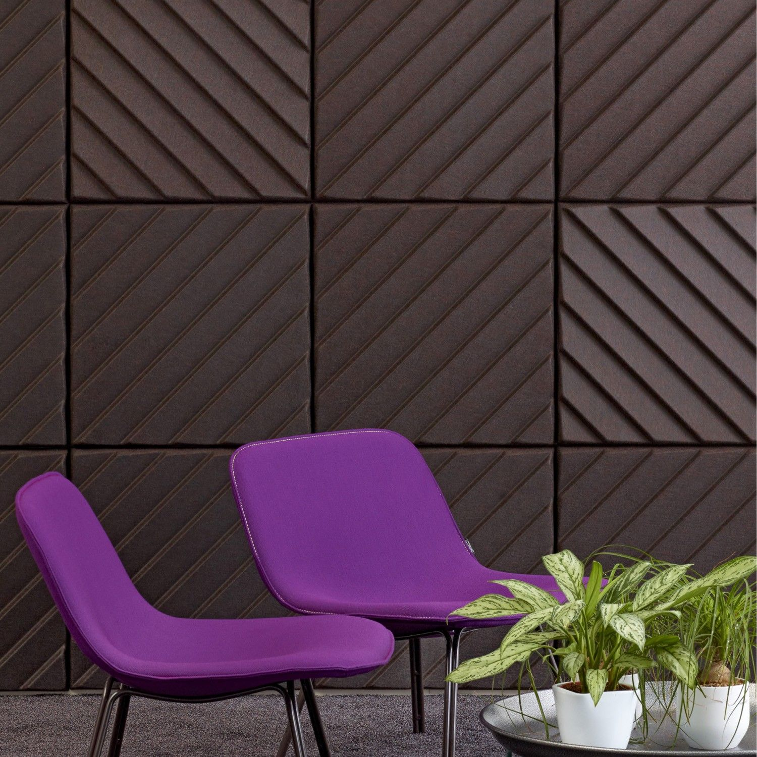 Soundwave Stripes Decorative Acoustic Wall Panels are a flexible solution  suitable to most decors in a wide choice of