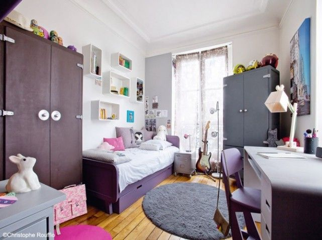 chambre fille rose gris rayures | chambre fille | pinterest | rose