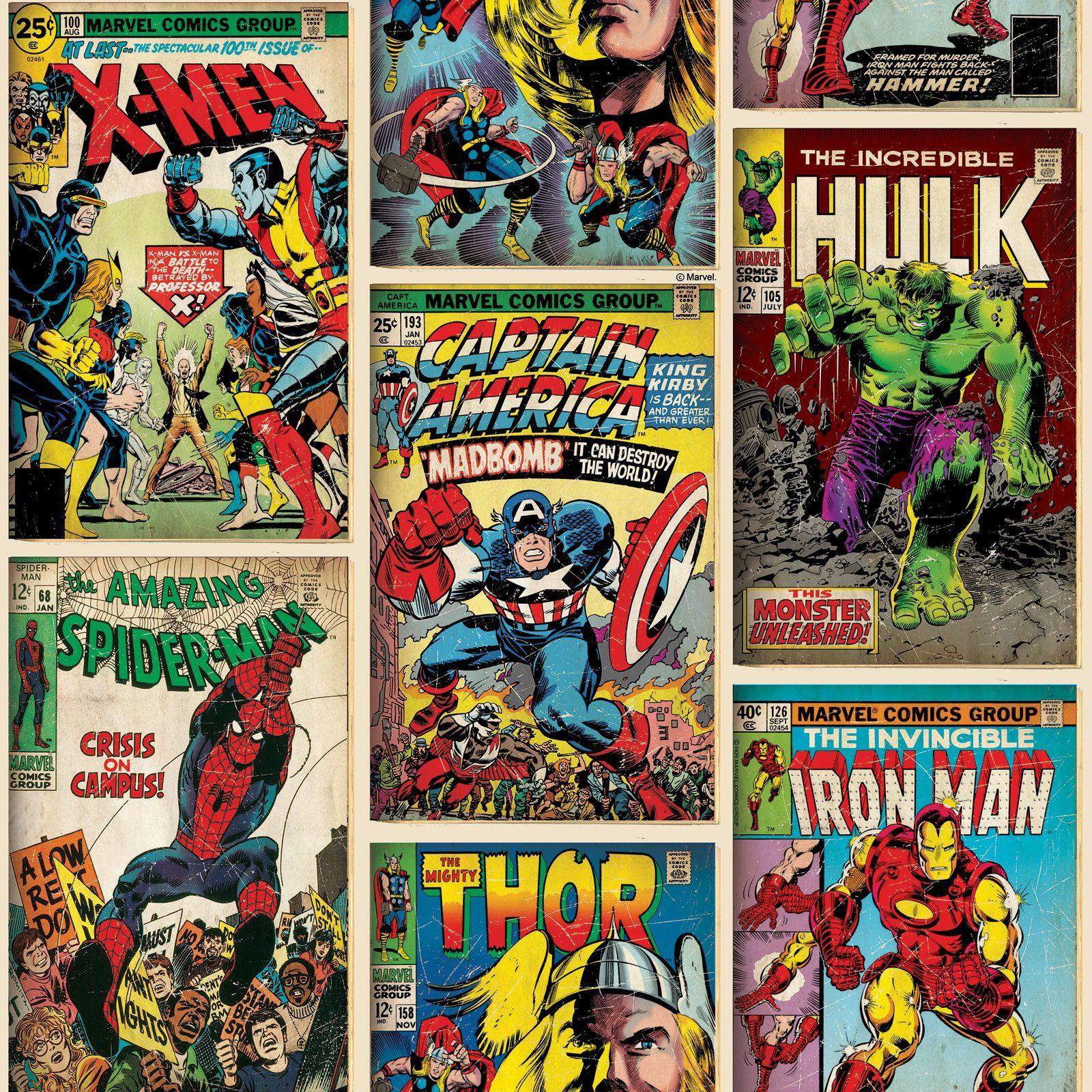 details zu marvel comics tapete und grenzen spiderman hulk + mehr