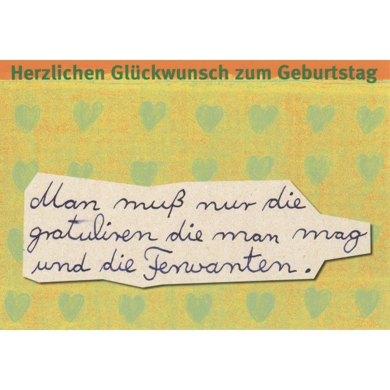 Humorvolle Postkarte Herzlichen Gluckwunsch Zum Geburtstag