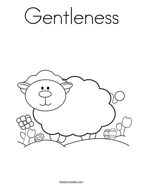 Gentleness Coloring Page Twisty Noodle Animal Coloring Pages