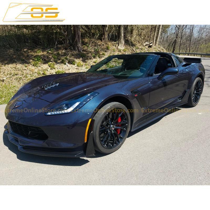 Corvette C7 Grand Sport Z06 Primer Black Side Skirts Rocker Panels Extremeonlinestore Corvette C7 Corvette Black Side