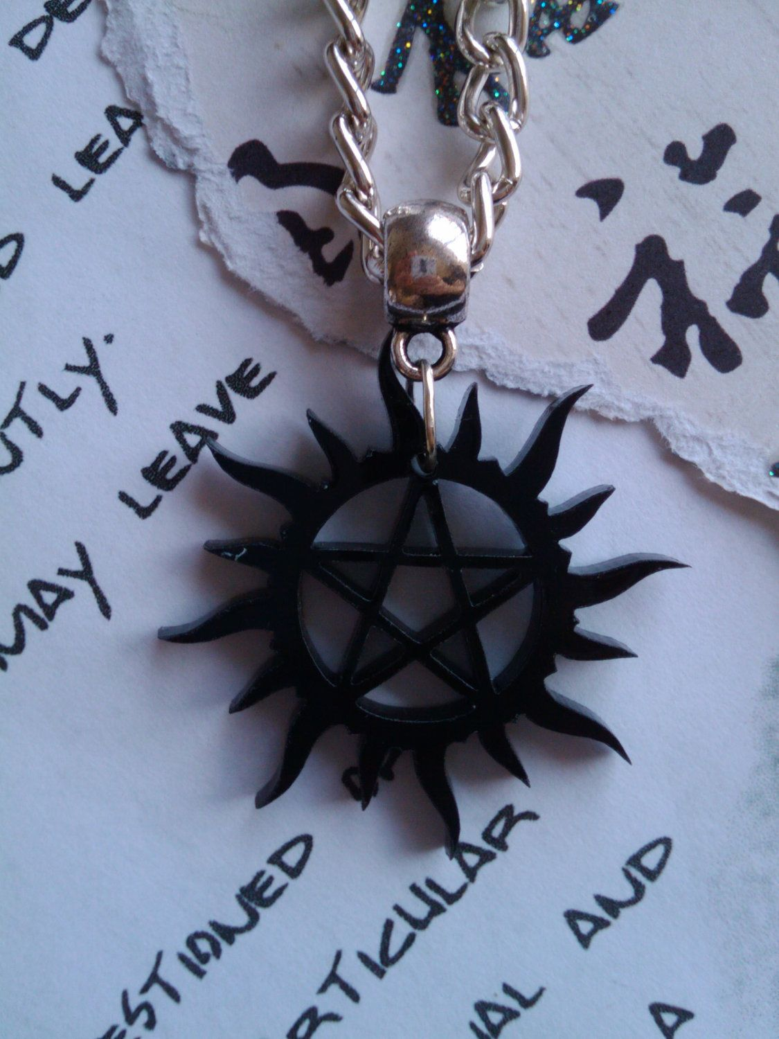 Supernatural theme tattoo symbol necklace tattoos for girls dean