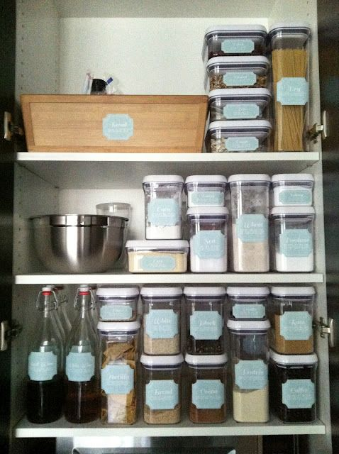 Melanie uses OXO POP Containers (sold at The Container Store) to ...