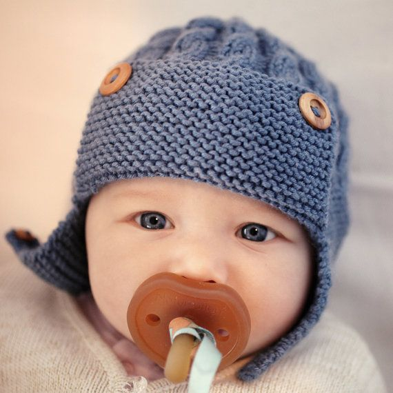 Baby Aviator Hat PDF Knitting Pattern, Cabled Aviator Hat Pattern ...