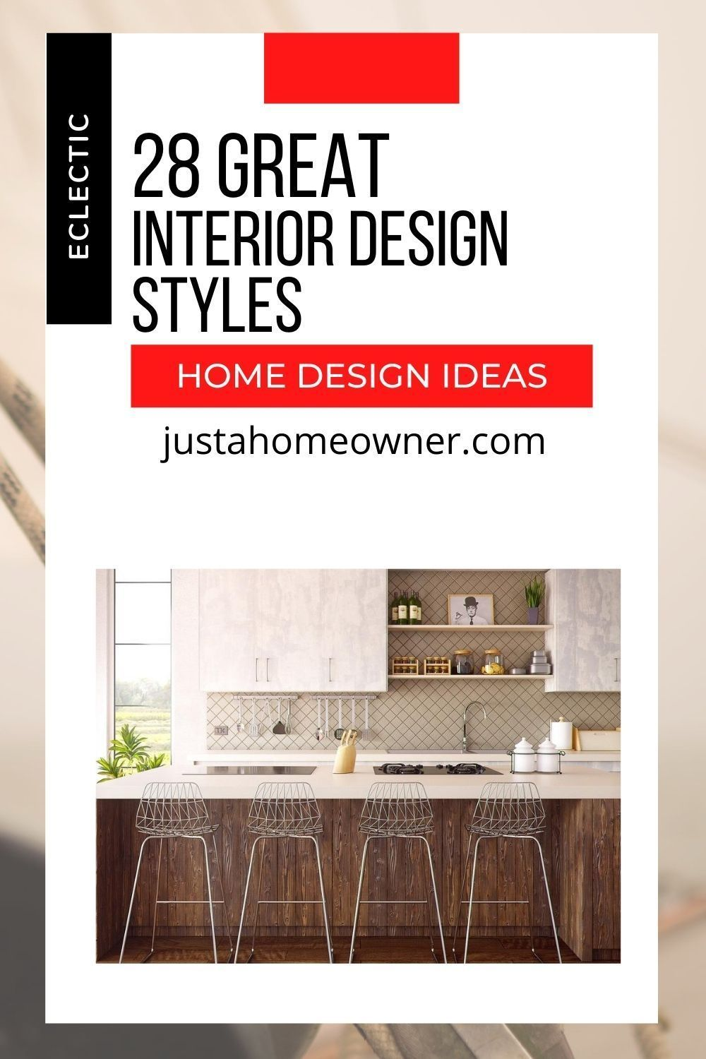 Are you confused how to decorate your home?  I've got the 28 best interior design styles so that you can find something perfect for your home décor.  Inspiring photos and home décor tips for each design style.  From Bohemian to Rustic design, they're all great.  Check it out and find a unique design perfect for you! #homedecor #homedesign #interiordesign #interiorideas #interiorhouse #homedesignideas #kitchendesign #bathroomdesign