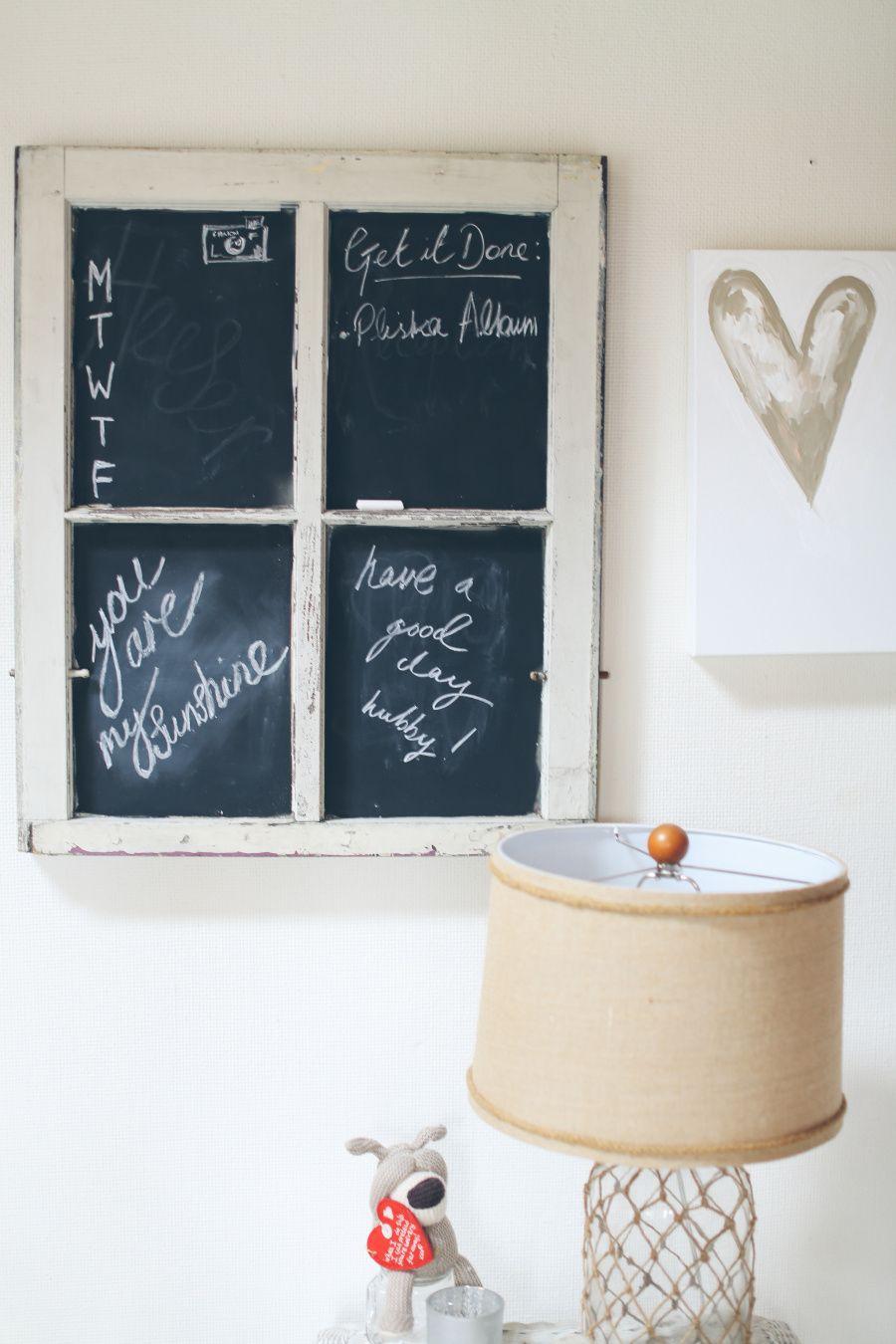 DIY Chalkboard Window frame / picture frame | Lets DIY! | Pinterest ...