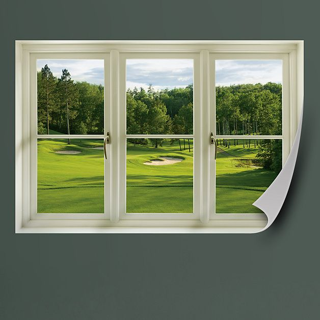 Spring Golf Tee Box Instant Window Golf Decor Faux Window Golf Room