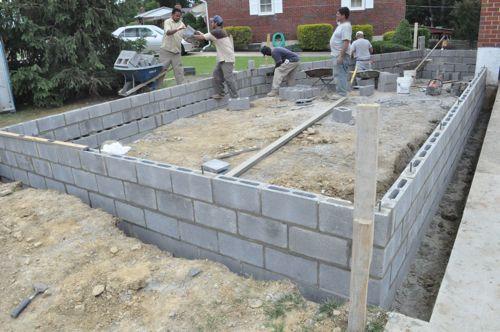 How To Build A Concrete Block Foundation Concrete Block Foundation Concrete Blocks Cinder Block Foundation
