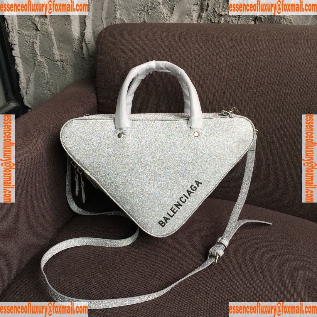 7bf8e079426 Balenciaga Triangle Duffle XS Glitter Shoulder Bag Balenciaga Luxury ...