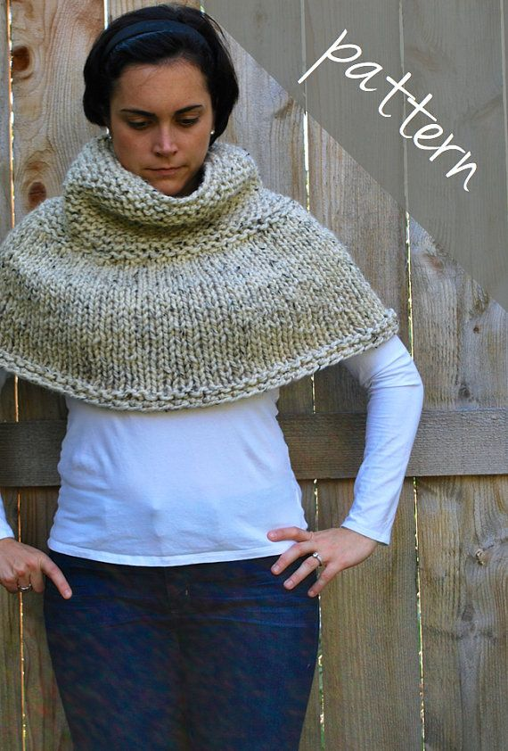 Knitting Pattern Poncho Cape Chunky Cape Easy Knits To Love