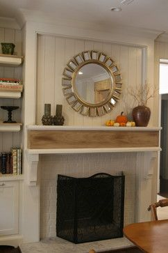 How To Add Wood Trim Above Fireplace Mantle White Brick Fireplace Home Fireplace Home