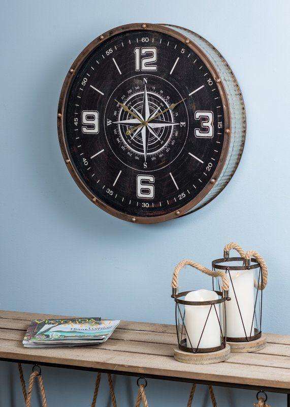 Oversized 23 5 Quot Round Wall Clock Round Wall Clocks Wall