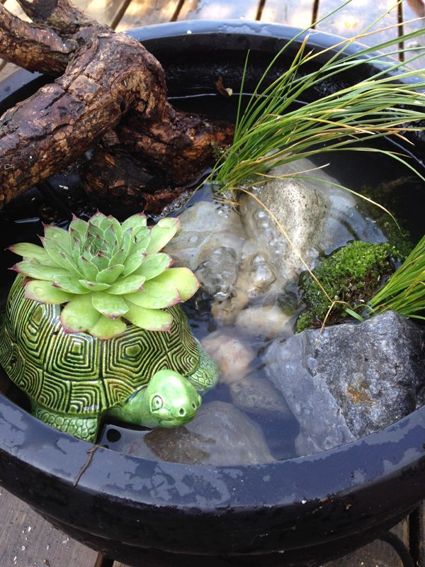 Good DIY: Make Your Own Patio Pond In A Pot / The Sweet Escape