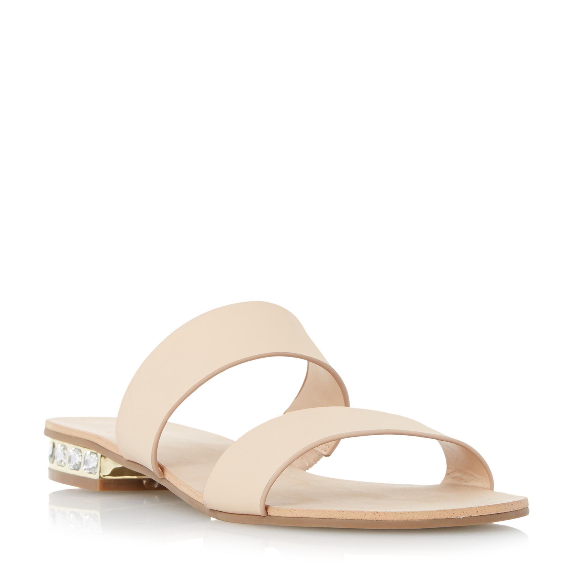 67f5ed473f1334 DUNE LADIES NESHA - Jewel Heel Double Strap Flat Sandal - nude ...