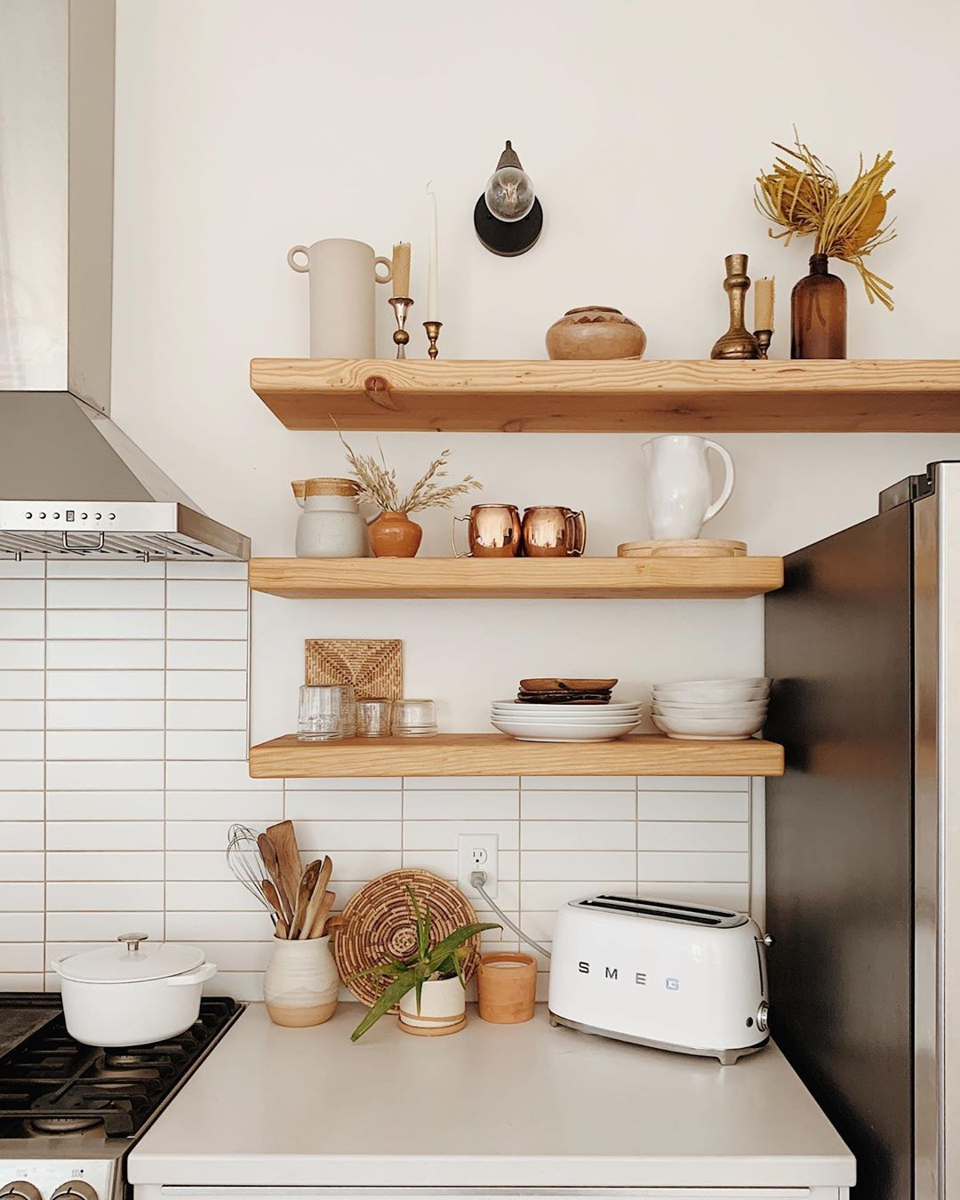 3 043 Likes 59 Comments Emily Oursouthwestnest On Instagram Thought You Guys Might Be In 2020 Open Kitchen Shelves Iron Shelf Brackets Metal Shelf Brackets