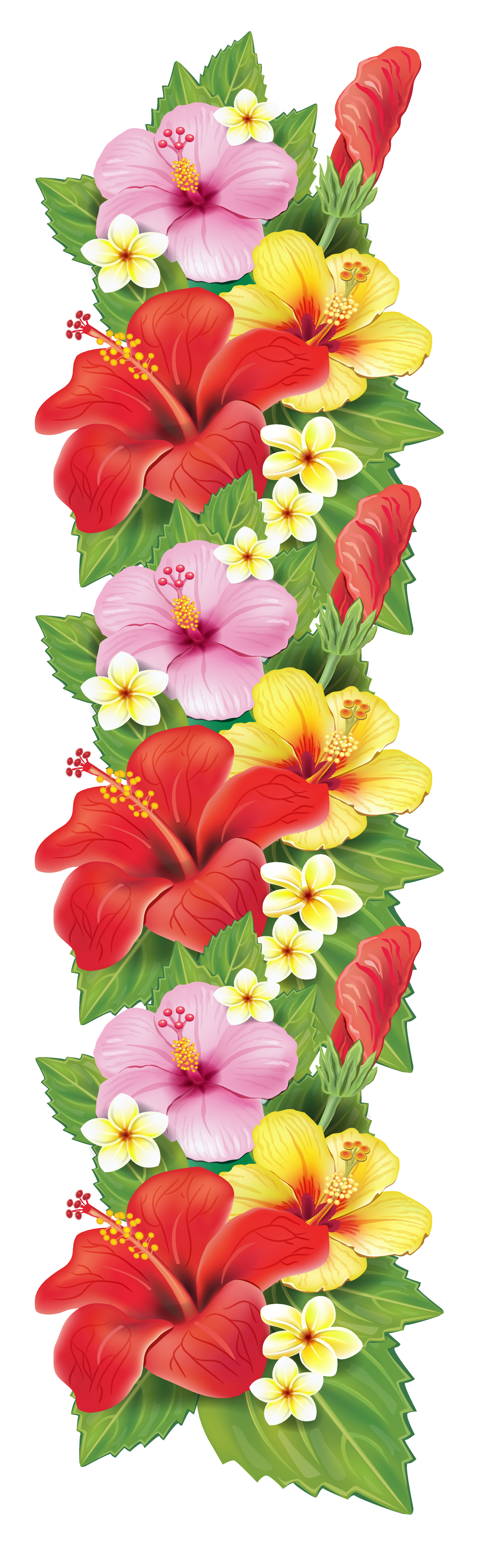 Exotic flowers decoration png clipart pinterest for Decoration flowers
