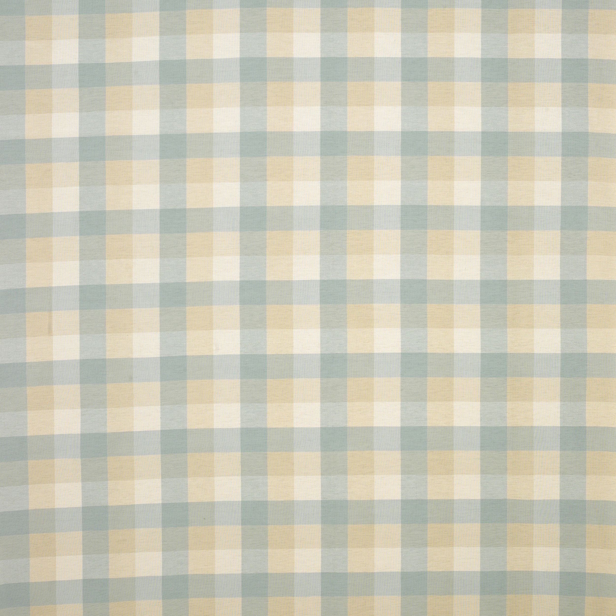 Laura Ashley Mitford Check Cotton Fabric Duck Egg