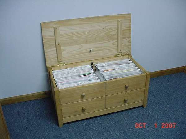 Decorative Hanging File Storage Boxes File Cabinet For 12 X12 Paper  Wood 12X12 Paper Storage Box