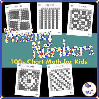 Missing Numbers 100s Chart Math Worksheets | Math worksheets, Number ...