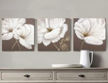 Brown and white flower oil painting canvas wall art home decor wholesale white flowers oil paintings from cheap white flowers oil paintings lots buy from reliable white flowers oil paintings wholesalers mightylinksfo