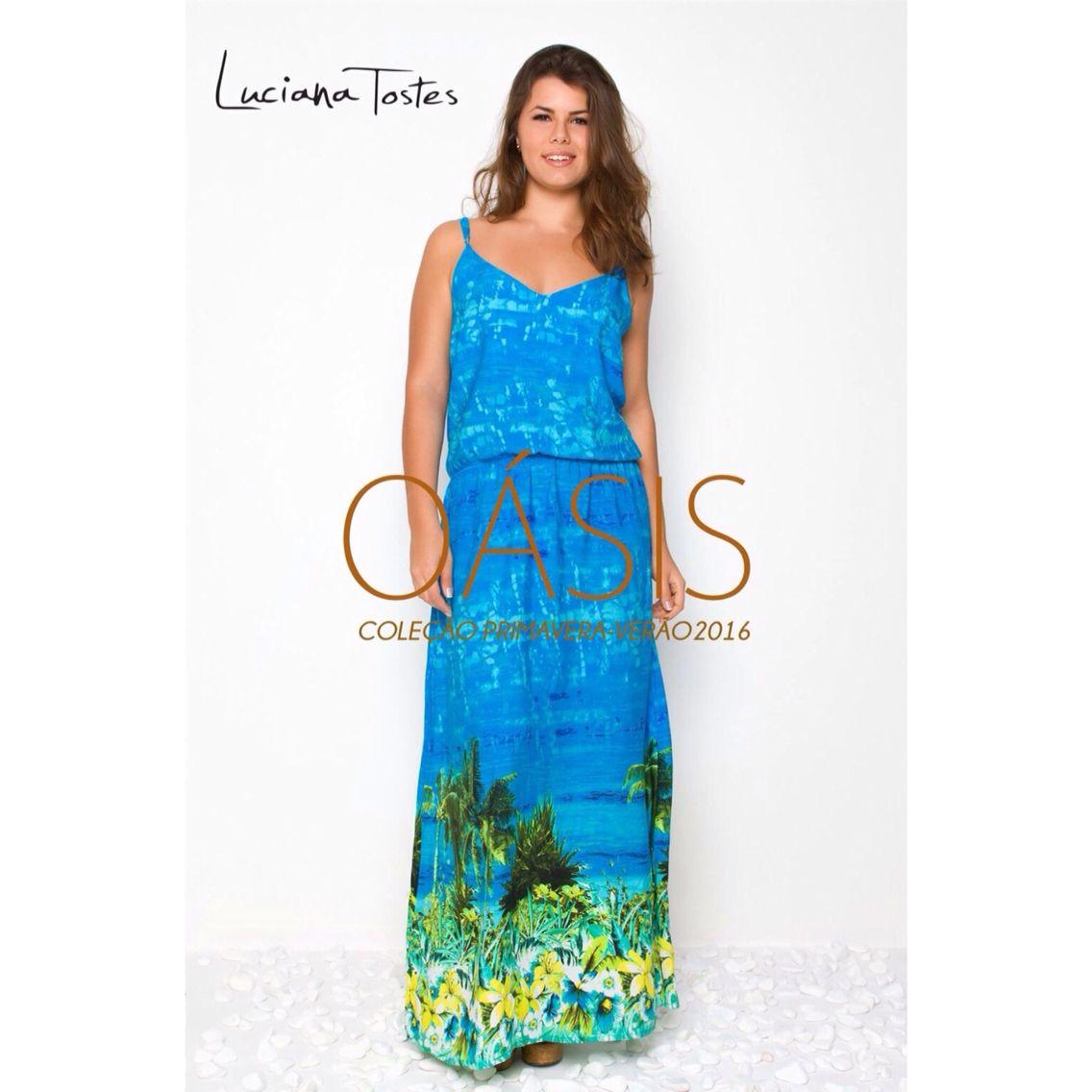 Vestido longo barrado!   Coleção Oásis  Primavera Verão 15/16!  Luciana Tostes