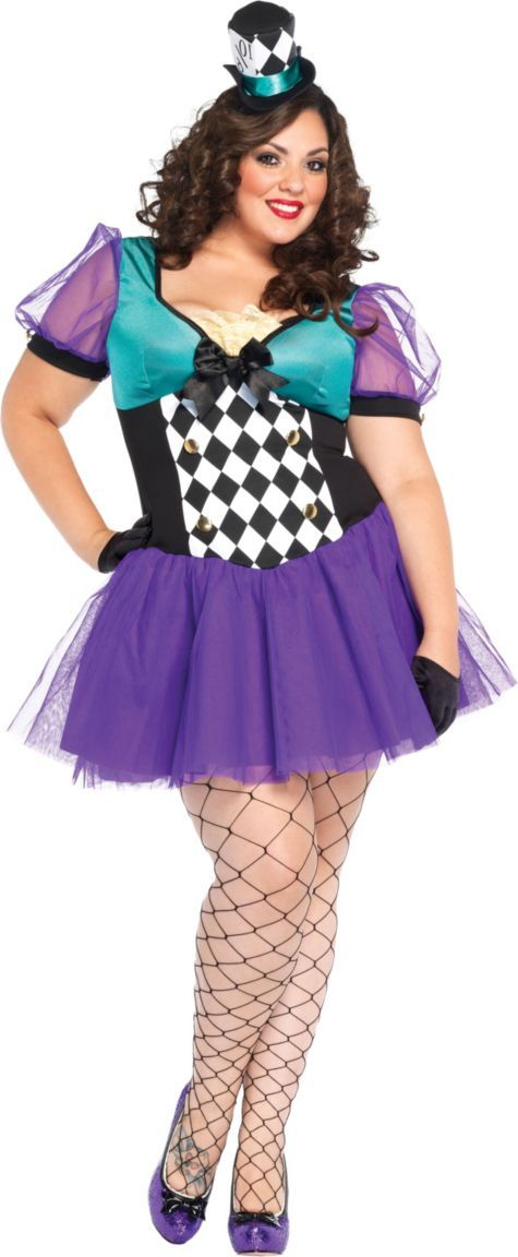adult plus size miss mad hatter costume party city