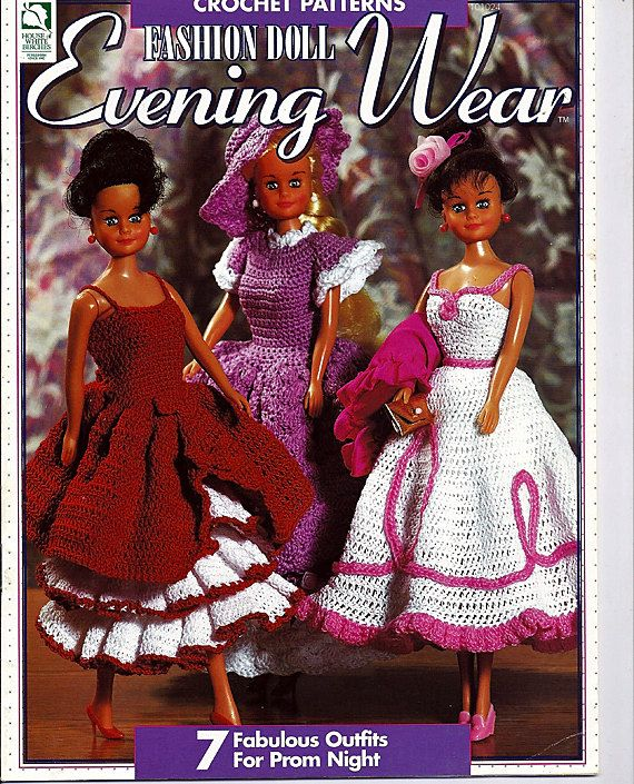 Fashion Doll Evening Wear Barbie and Ken Crochet Patterns from House ...