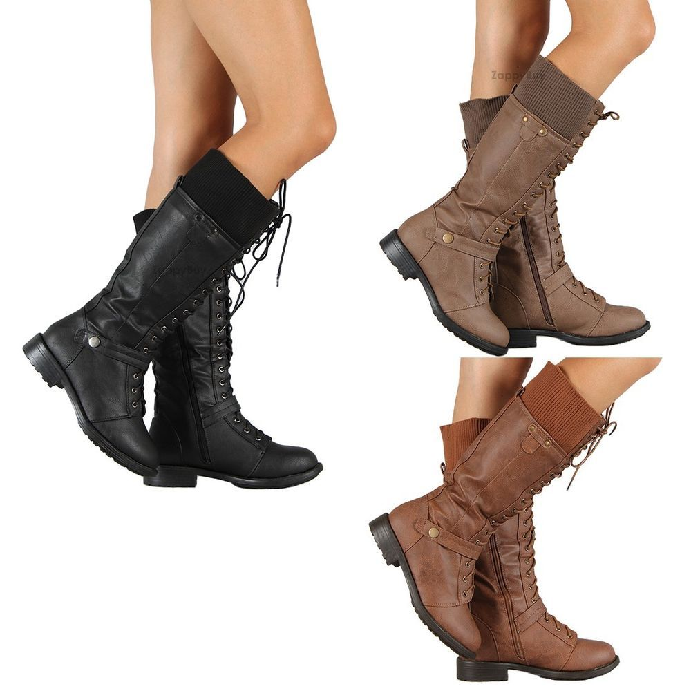 Women's Fashion Low Chunky Heels Ankle Jodhpur Boots With Back Zipper