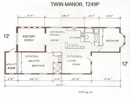 OFF-SET FLOOR PLAN 1986 Homes of Merit Mobile / Manufactured ... on redman double wide floor plans, manufactured home floor plans, best mobile home plans, modular home plans, redmond mobile homes floor plans,