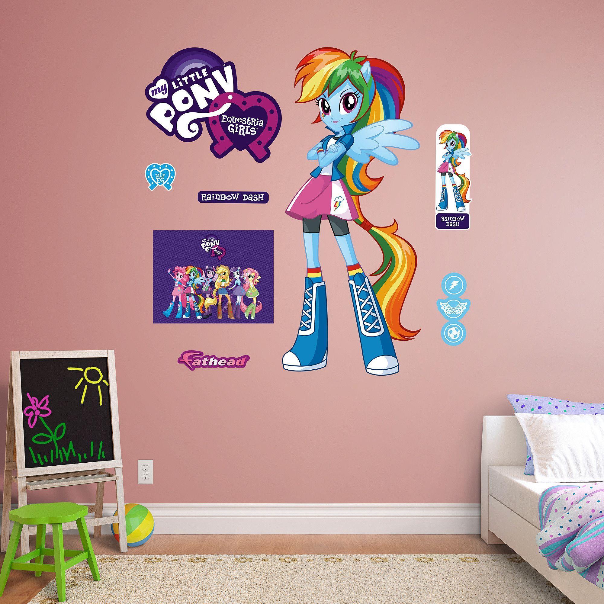 hasbro my little pony  rainbow dash  equestria kids peel
