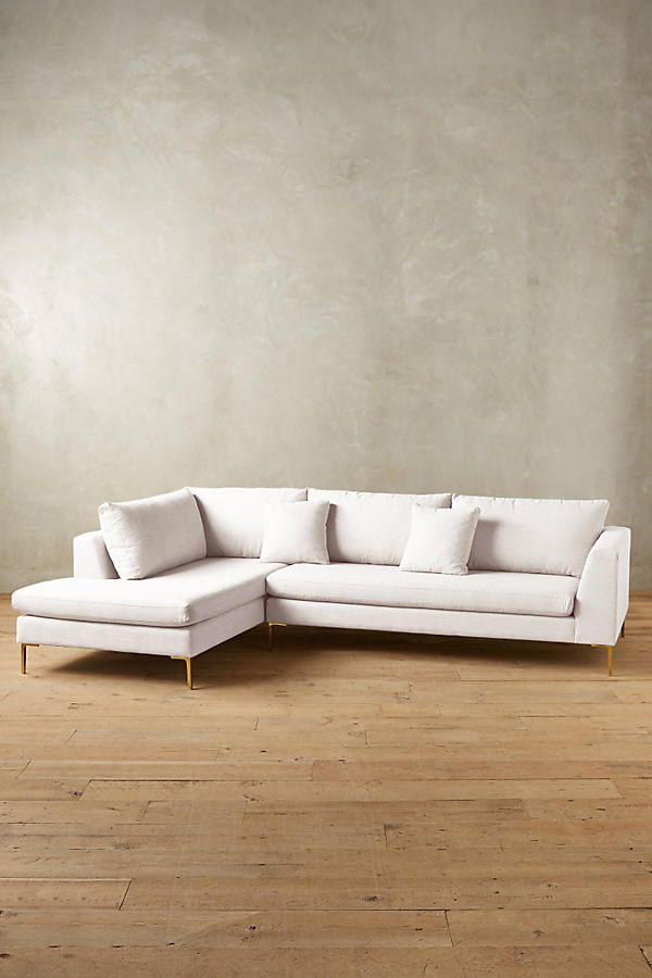 Belgian Linen Edlyn Left Sectional Apartment Livin
