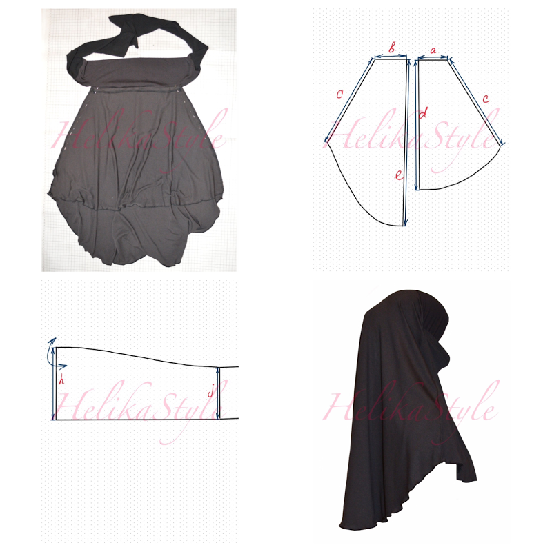 How to sew Jersey Short Khimar? Pattern, sewing tutorial and ...
