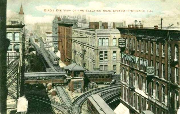 1912 Chicago, Illinois, USA Loop terminal for suburban electric railways pc
