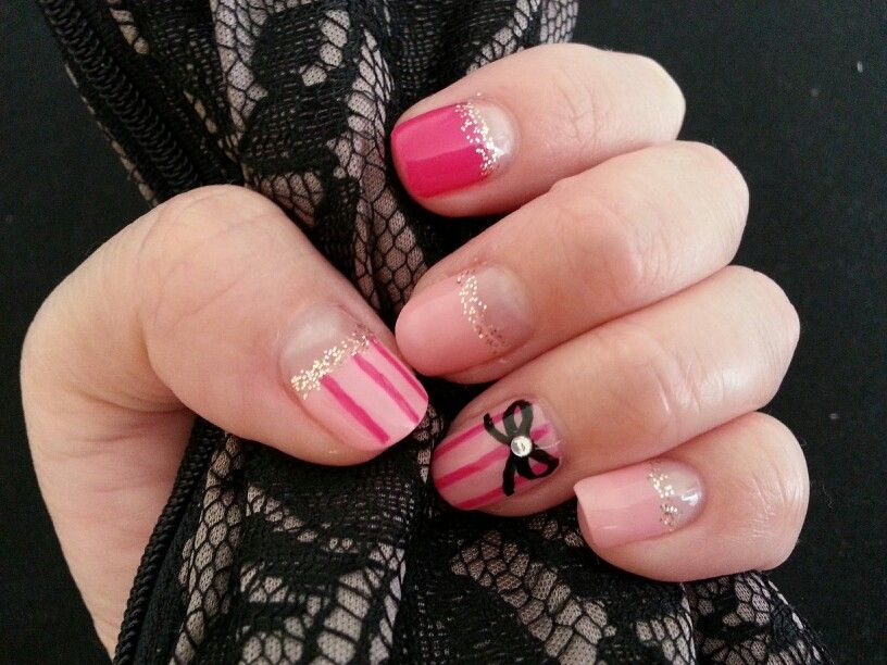 Victoria\'s Secrets -inspired nail art @Sephora by OPI \