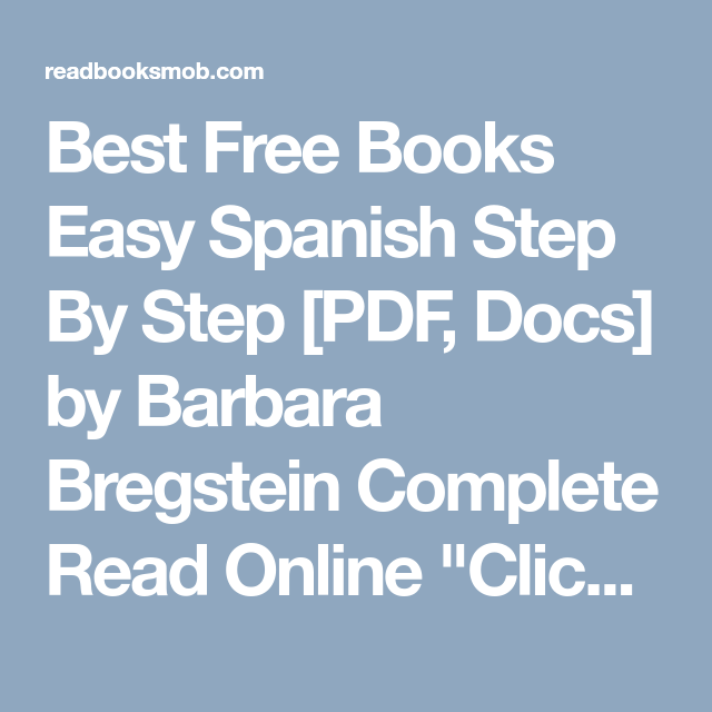 Best Free Books Easy Spanish Step By Step Pdf Docs By