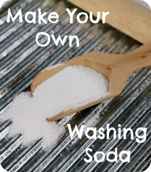 how to make washing soda without oven