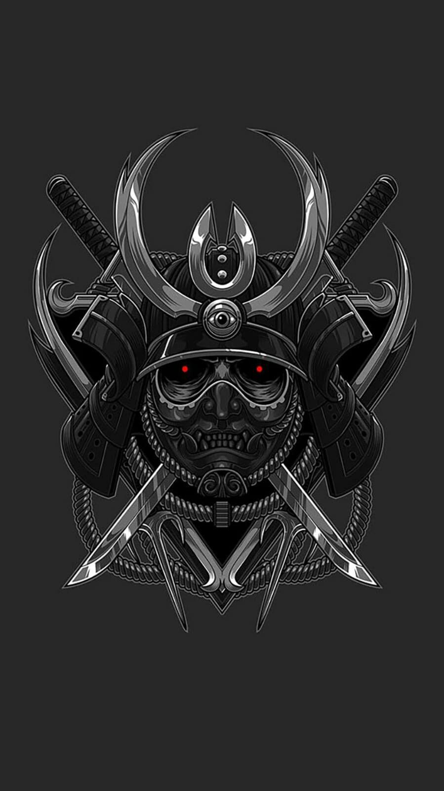 Samurai Clan Samurai Mask Tattoo Samurai Warrior Tattoo Samurai Wallpaper