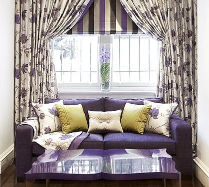 Purple  color of passion and luxury home decorationsliving also sofa furniture