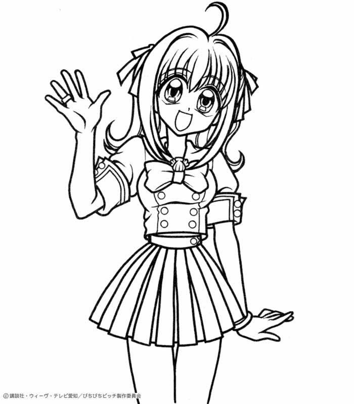 MERMAID MELODY coloring pages Hanon Mermaid Melody Anime