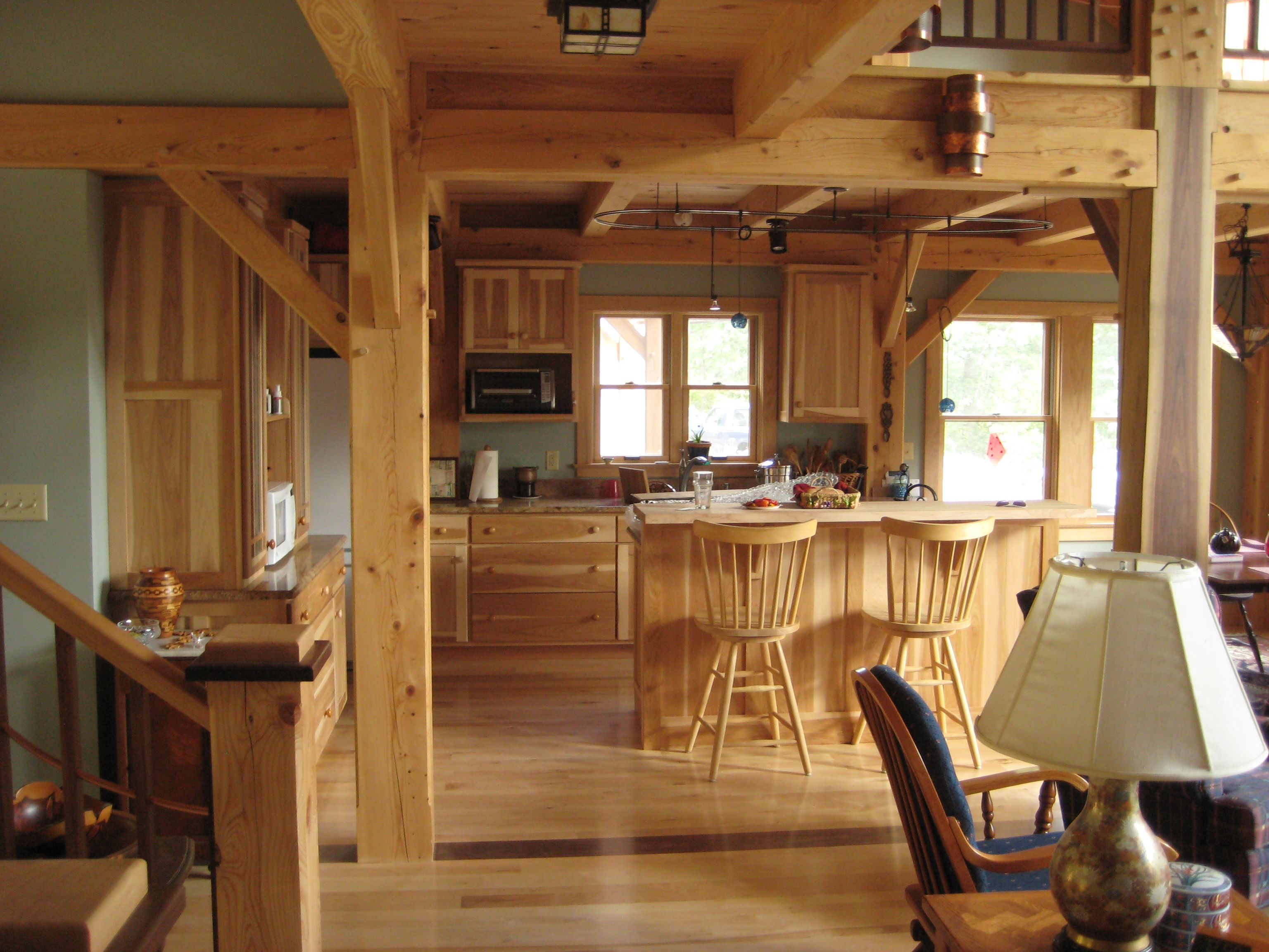 Interior Of New Timber Frame Home
