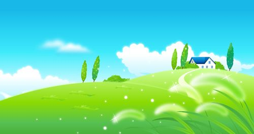 Beautiful Cartoon Landscapes Vector Set 08 Vector Scenery Free Download Free Vector Art Graphic Design Art Free Vector Images