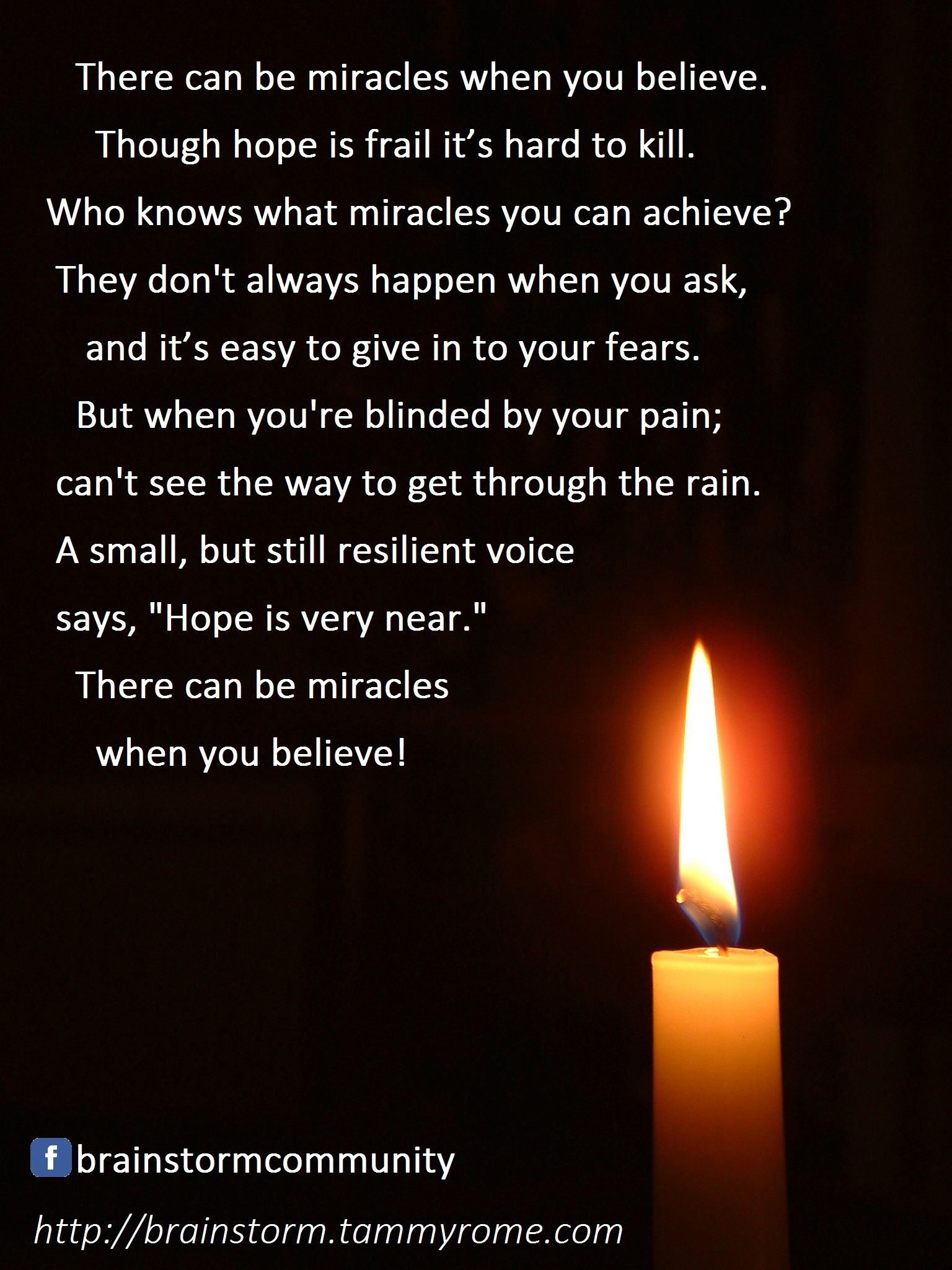 There Can Be Miracles When You Believe Quotes Quotes Quotable